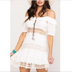 NWT Free People Cruel Intentions White Mini Dress